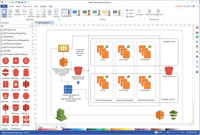 aws diagram software visio alternative make aws diagrams on mac windows linux - Visio Like Tool For Mac