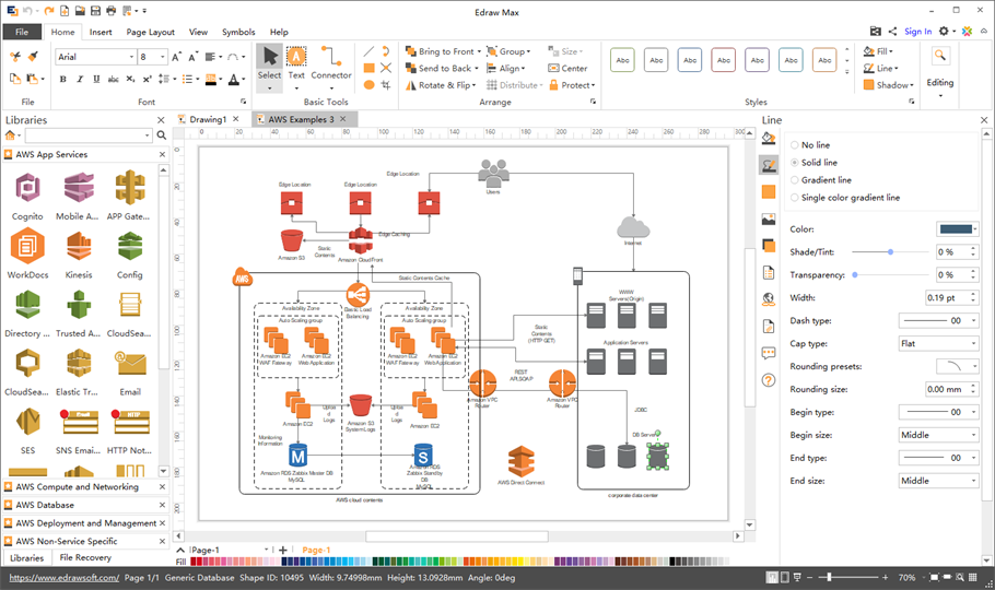 AWS Diagram Software for Mac, Windows and Linux