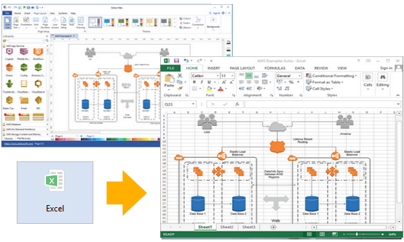 AWS-Diagramm für Excel exportieren