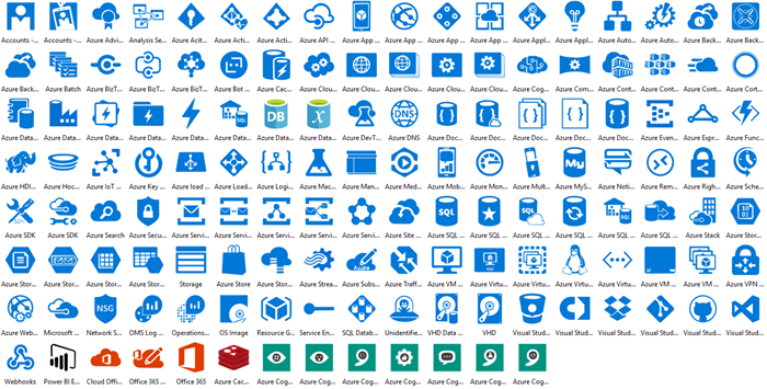 Azure Cloud Icons