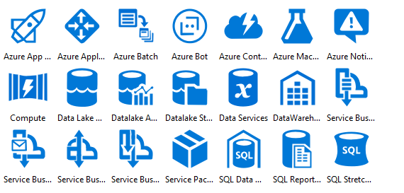 Azure Deprecated Icons