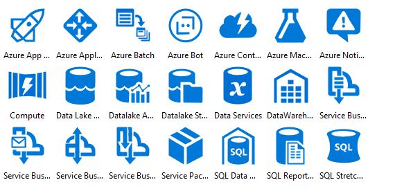 Azure Deprecated Icons