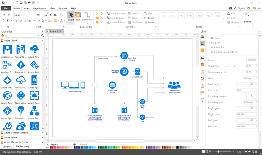 azure diagram mac