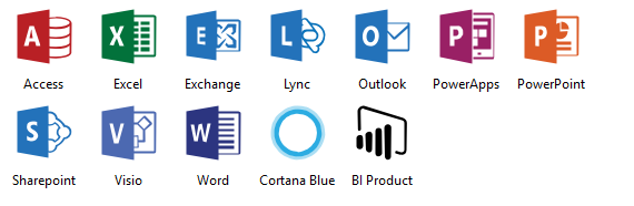 Azure Microsoft Products Icons