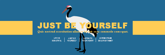 Be Yourself Twitter Banner