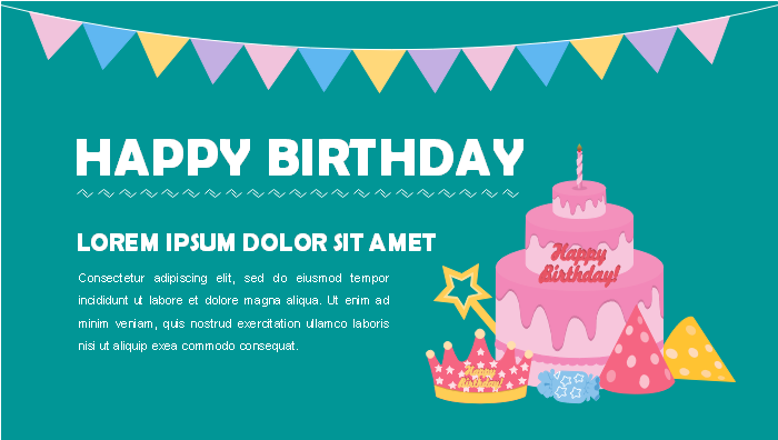 Birthday Google Plus Banner Template