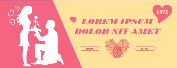 Valentine's Day Facebook Banner Template