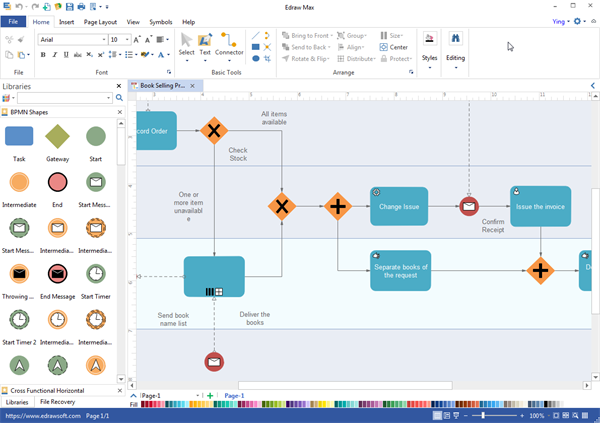 Bpmn diagram desktop program create great looking bpmn diagram bpmn diagram desktop program ccuart Gallery