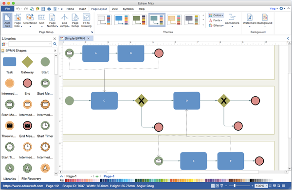 bpmn diagram visio alternative for mac - Free Visio Type Software