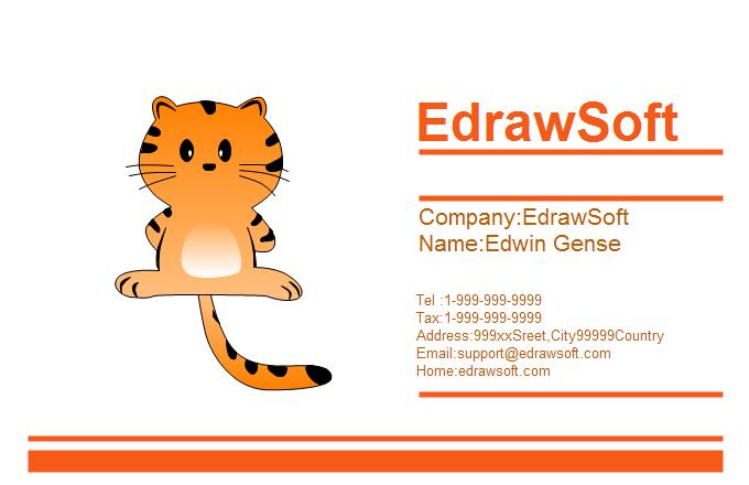 Free business card templates animal style animal business card 10 colourmoves
