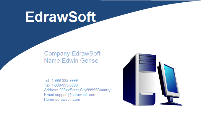 Computer business card templates computer business card 4 wajeb