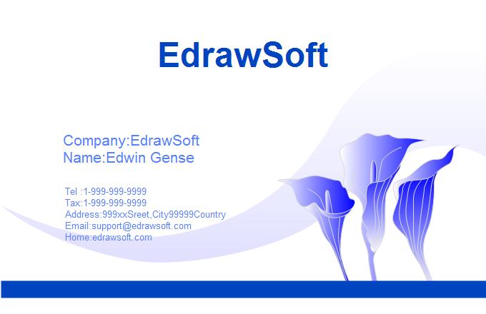 Flower Designs For Cards Flower Business Card 1