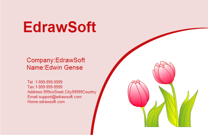 Flower Business Card 2