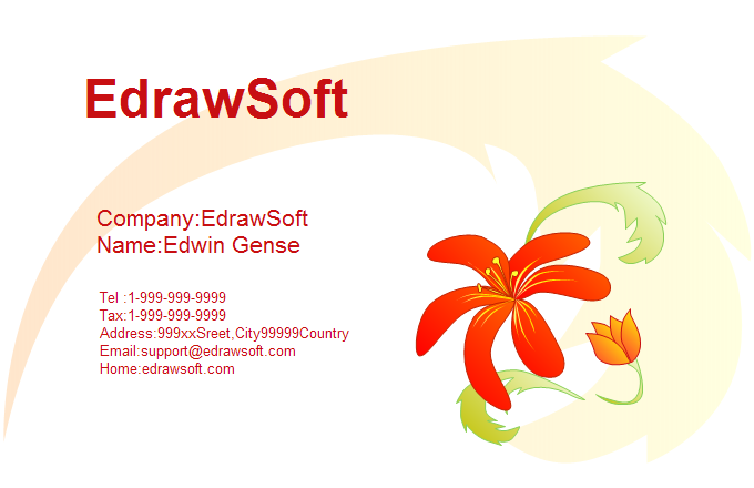 Flower Business Card 3