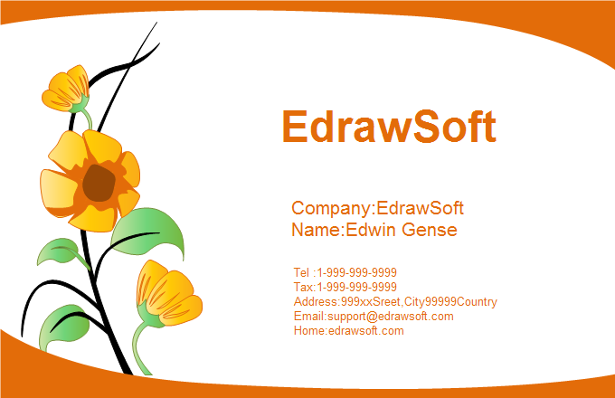Flower Business Card 4
