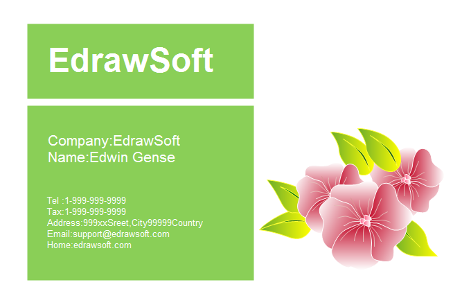 Flower Business Card 5