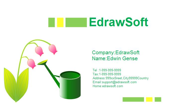 Flower Business Card 6