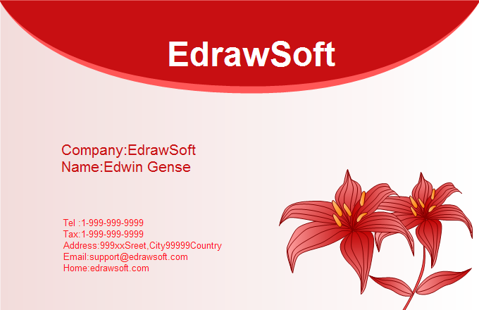 Flower Business Card 7