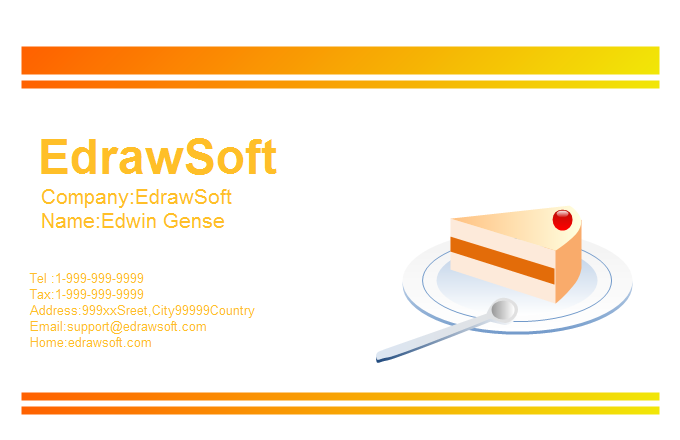 Food Business Card 2
