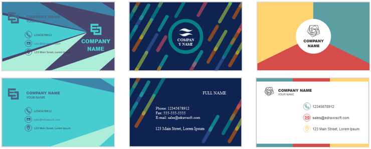 business card collection edraw