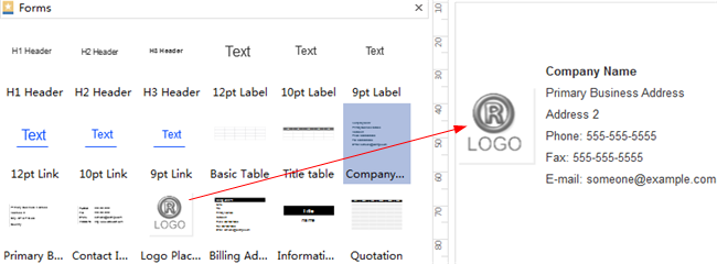 Add Business Form Shapes