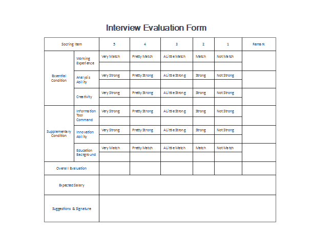 Download Evaluation Form Templates for Free!