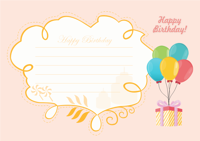 Birthday Card Template For Him  Printable Birthday Card Template