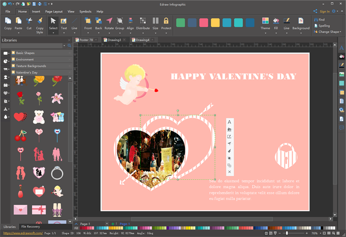 EditandCustomizeValentine's Day Card Templates