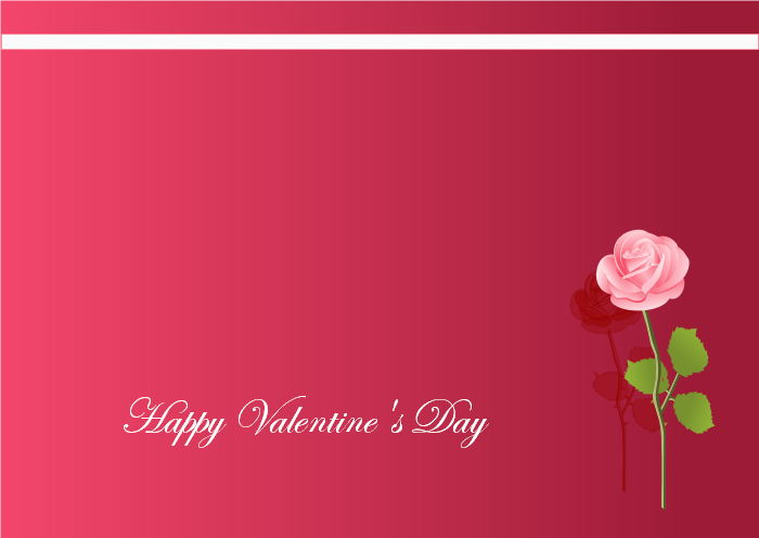 FlowerValentine's Day Card Template