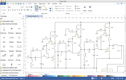 circuit diagram software for mac rh edrawsoft com wiring diagram tool wiring diagram or slot car tracks