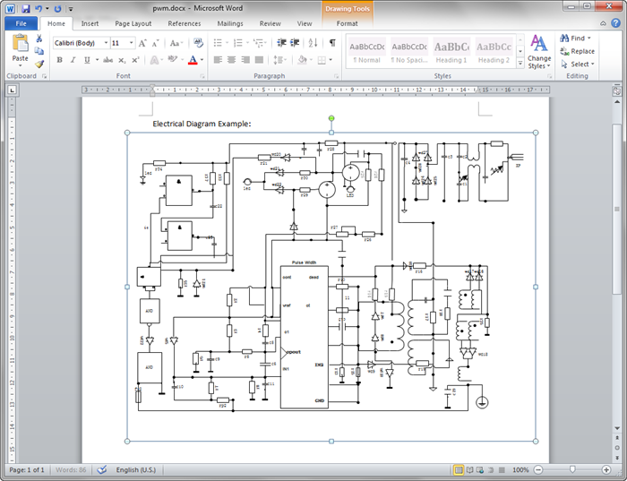 Create circuit diagram for word circuit diagram word format ccuart Images