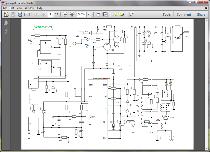 create circuit diagram for pdf