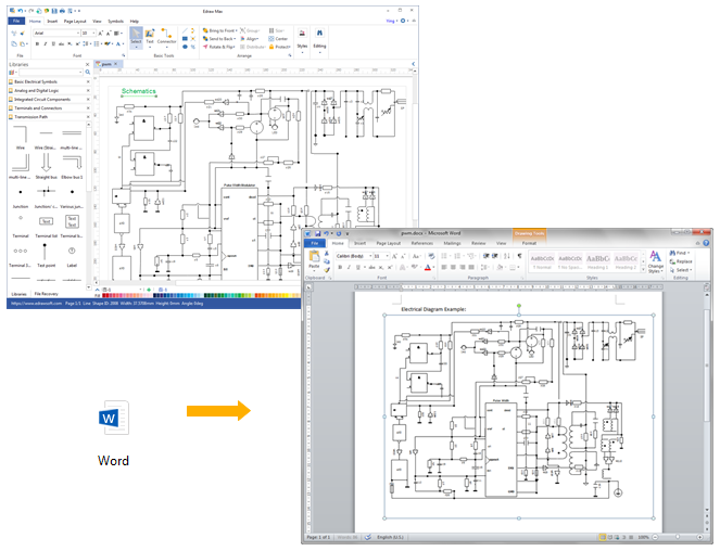 create circuit diagram for word rh edrawsoft com Latex Draw Circuit Diagram Simple Circuit Diagram