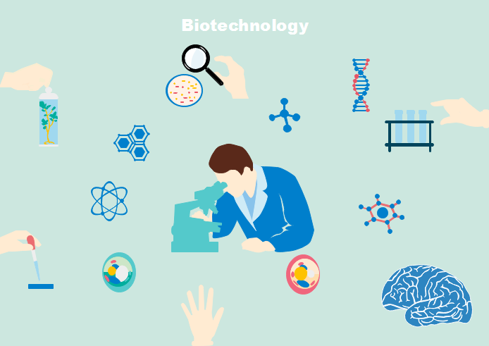 Biotechnology Cliparts Application in Scientific Research