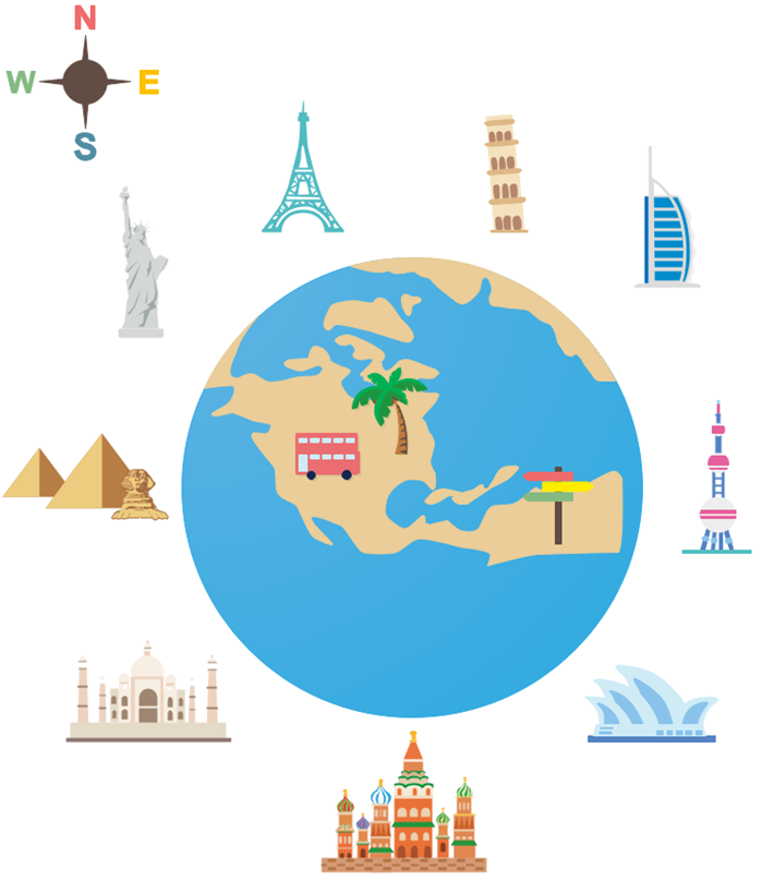 building clipart example world trip