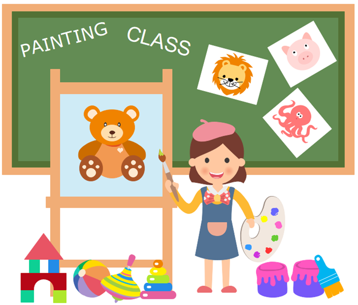 clipart example painting class