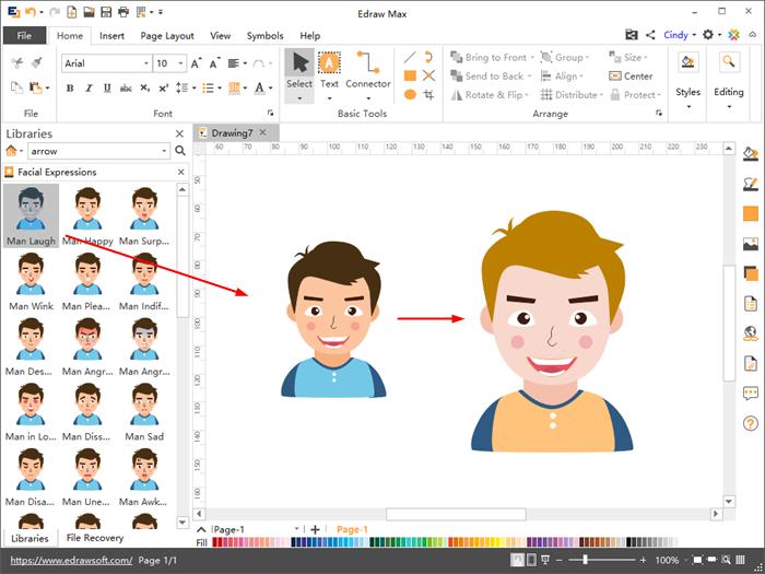 Customize facial expression clipart