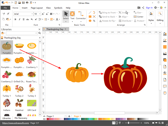 Customize Thanksgiving Day Clipart