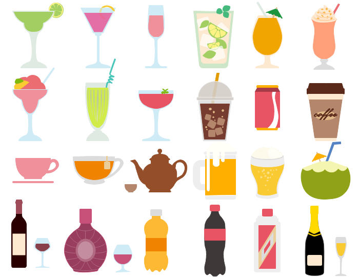 Vector drinks cliparts