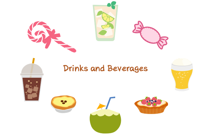 Drink and Beverage Clipart in Infographic