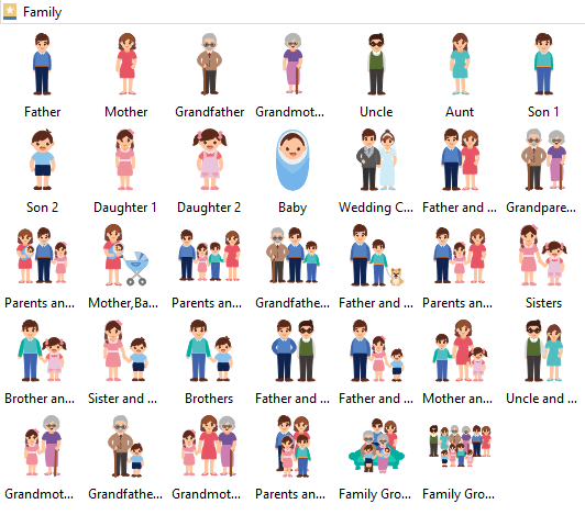 Family Clipart library Edraw