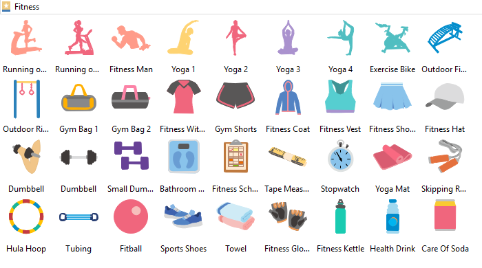 Fitness Clipart library Edraw