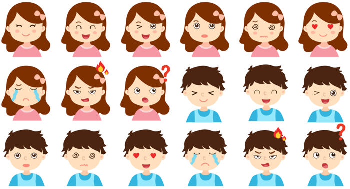 kids expressions clipart