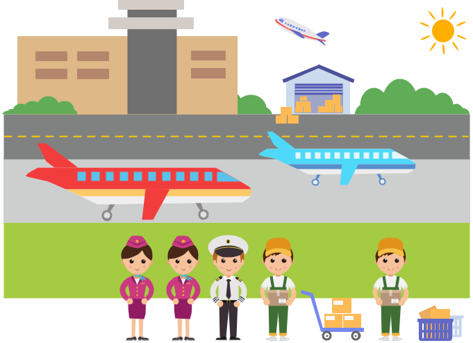 kids professions clipart example airport