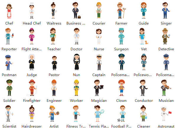 kids professions clipart