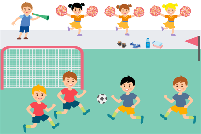 kids sports clipart example football match