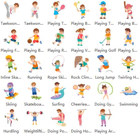 kids sports clipart