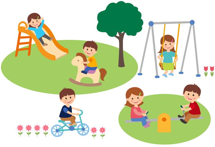 kindergarten life clipart example playground