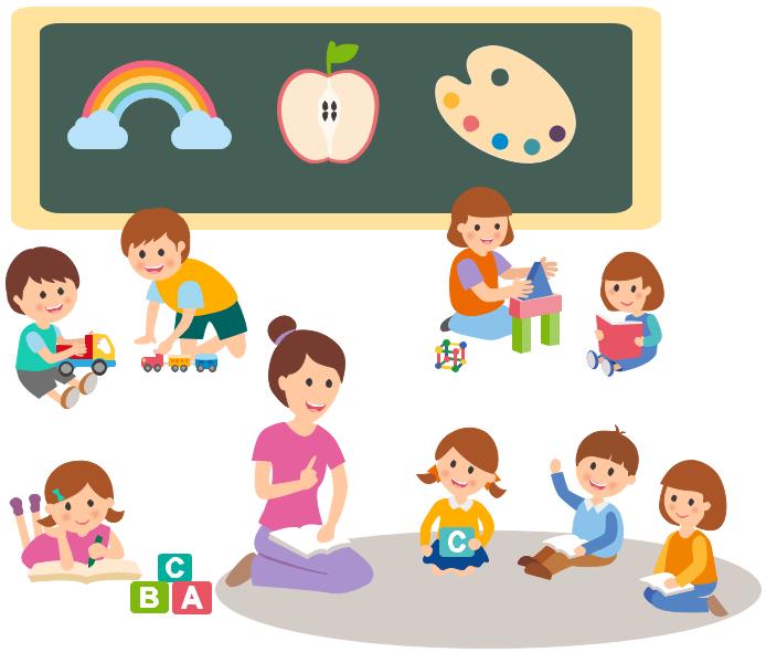 kindergarten life clipart example teaching