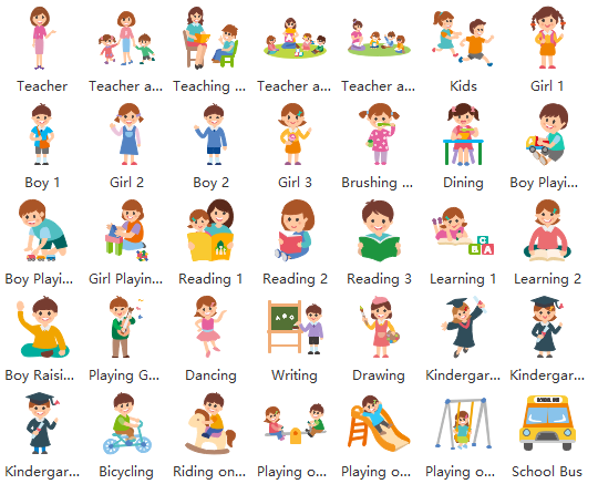 kindergarten life clipart